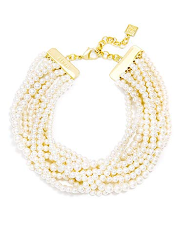 ZENZII Strand Small Pearl Collar Necklace -