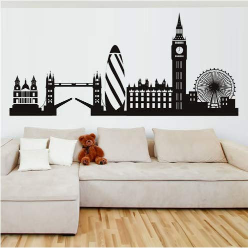 floolter London Skyline Wall Sticker City Silhouette England London ...
