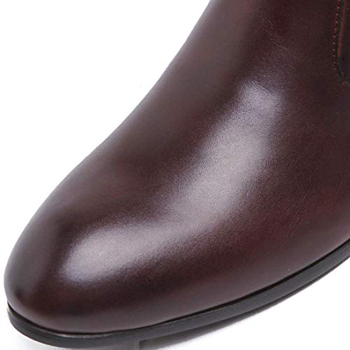 Stivali Fashion Rotonda Testa NIUMT Leisure Stivali Quotidiano Alti Business Comfort Lavoro Uomo da Brown 7axwdw8Zq