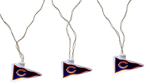 NFL Chicago Bears LED Pennant Party Lights - Chicago Bears Christmas Ornament
