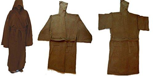 714d6e7ba6 Jedi Knight Robe Brown Senior With Tie Belt Replica Star Wars Costume