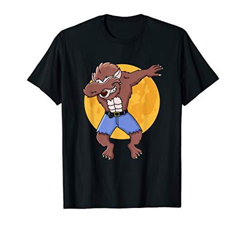 Halloween Shirt - Dabbing Werewolf Shirt Gift Idea]()
