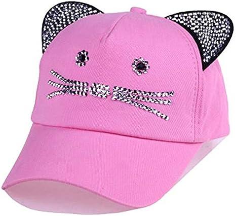 Unisex Baseball Cap Children Cat Ears Rivets Sun Cowboy Hat Snapback Cap for Boy Girls Casual Cap Bone Gorro
