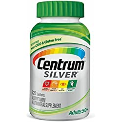 Centrum Silver Adult Multivitamin / Multimineral Supplement Tablet, Vitamin D3, Age 50+ (220 Count)
