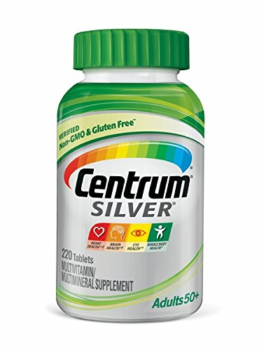 Centrum Silver Adult (220 Count) Multivitamin / Multimineral Supplement Tablet, Vitamin D3, Age 50+