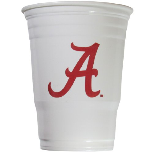 NCAA Plastic Game Day Cups, Alabama Crimson Tide,18-Ounce, Sleeve of 18 cups (Game Day Cup)