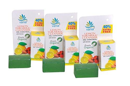Combo Of 3 Pces Of Vania Lemon Turmeric Cleanser 35 Gram
