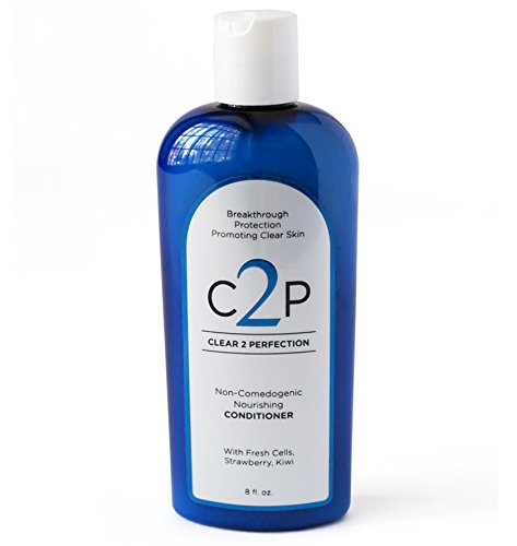 (Non-Comedogenic Hair Conditioner for Blemish Free Skin by Clear 2 Perfection with Fresh Cells Strawberry and Kiwi Suspensions)