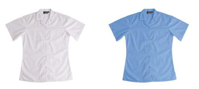2 para mujer kimono de diseño de niñas de diseño de blanco camiseta de manga corta organismo - blusa camiseta de manga corta de Cuello 42 24 de pecho: ...