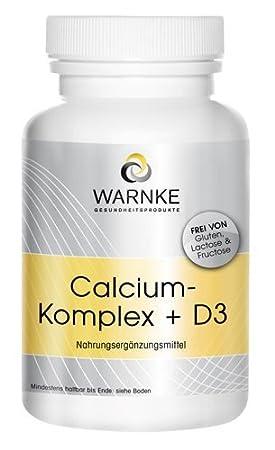 Calcio y D Complex - con Calcio- Magnesio y Vitamina D3 - 100 cápsulas - vegetariano: Amazon.es: Salud y cuidado personal