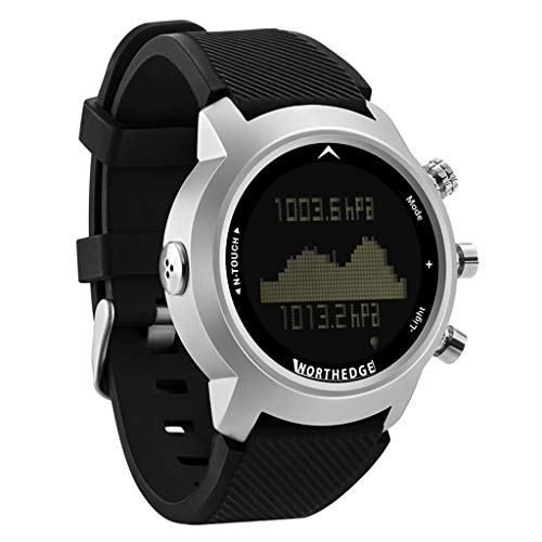 Pro Bluetooth Smart Watch, Compass Watch, Digital Sports Watch Pedometer Altimeter Barometer,Compatible with iPhone and Android ()