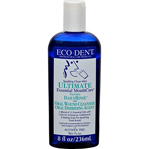 ECO-DENT Premium Oral Care Mouthwash Daily Rinse Sparkling Clean Mint 8 ()