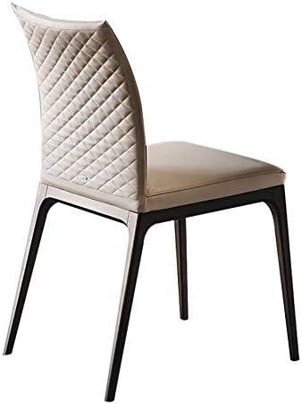 XBD Dining Chair Italian Creative Leisure Dining Chair Office Negotiation Chair Restaurant Backrest Single Chair Chair Home Dining Chair Iron Feet