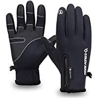 Men's Winter Windproof Fur Touchscreen Gloves