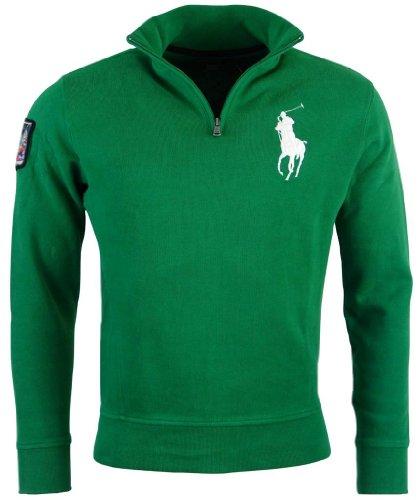 Polo Ralph Lauren Mens French Rib Big Pony Logo Pullover - M - Green