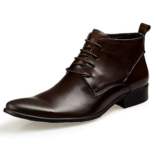 à Décontractées Mode GRRONG Hiver Brown La Pour Aider Bottes Hiver Chaussures pOzXBwHqz