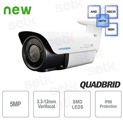 Hyundai Security - Cámara de vigilancia Hyundai 5 MP en 1 Bullet 3,3 - 12 mm IR - hyu-470: Amazon.es: Electrónica