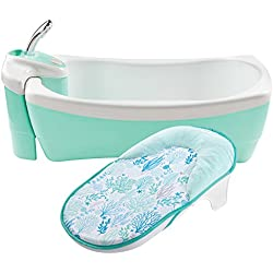 Summer Infant Lil Luxuries Whirlpool Bubbling Spa & Shower Bath Tub, Aqua