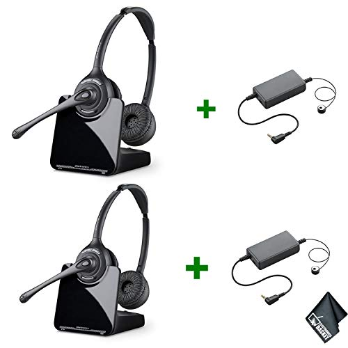 (Plantronics CS520 Wireless Headset System 84692-01 (2-Pack) Bundle with Ring Detector RD-1 Electronic Hook Switch Cable (for Shoretel and Toshiba Phones))