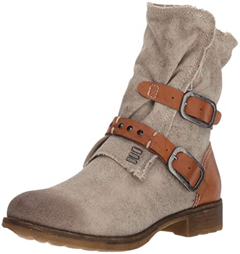 Dirty Laundry by Chinese Laundry Women's TYCEN Motorcycle Boot, tan Canvas, 8.5 M US