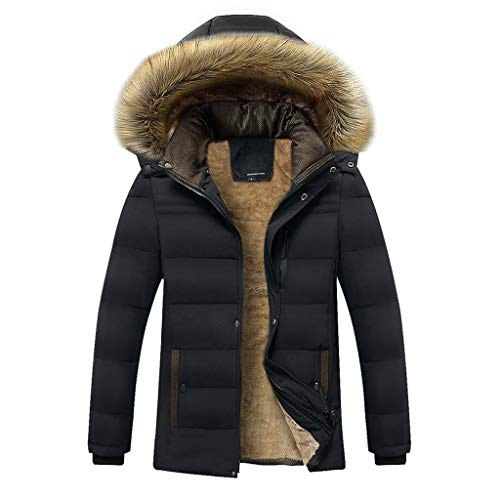 Mens Thermal Jackets,Vanvler Male Winter Warm Parka Thickened Coat Cashmere Cotton Padded Outwear Fashion Casual ()