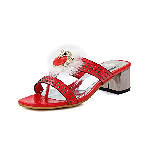 Mujer QIN Red amp;X Bloque Sandalias Peep de Toe Tacones q7tC7