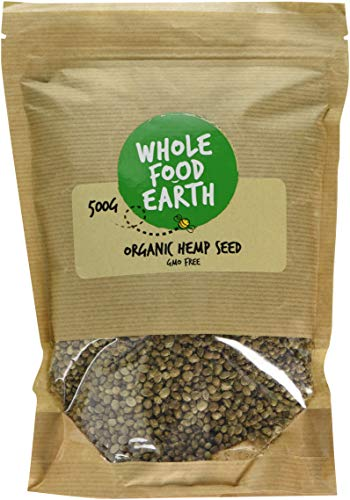 Wholefood Earth Organic Whole Hemp Seeds, 500 g