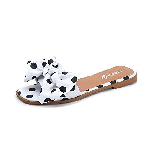 Pantofole Donna 35 Per Libero Bow Spot Il Tempo Sandali Xsj Shoes Donna Donna Infradito White Summer White qYxfz