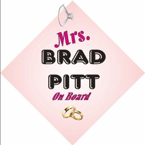 Mrs Brad Pitt de cartel con ventosa: Amazon.es: Juguetes y ...