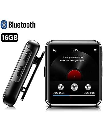 370554ab1 MP3 BENJIE 16GB Reproductor de MP3, MP3 Bluetooth HiFi sin pérdida de  Sonido, FM