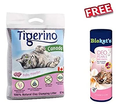 Tigerino Canada - Arena para Gatos (2 Paquetes de 12 kg, 100 ...