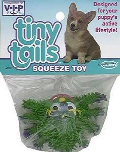 Vo-Toys Latex Tiny Tails Mini Creepy Crawlers Dog Toy Colors May Vary, My Pet Supplies