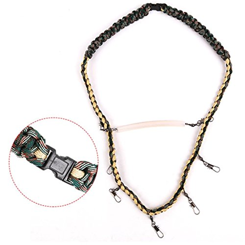 DYNWAVE Loaded Lanyard Necklace for Fly Fishing Tackle Nipper Patch Holder Tools