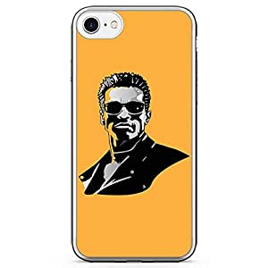 Loud Universe Arnold fAce iPhone 7 Case Terminator iPhone 7 Cover with Transparent Edges