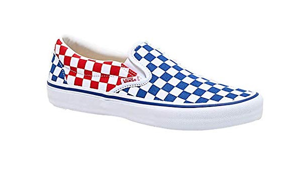 Vans Slip On Pro Red Blue Checkerboard