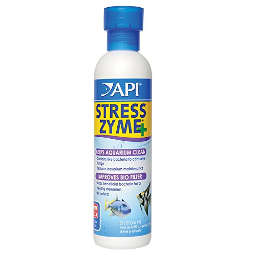 API STRESS ZYME Freshwater and Saltwater Aquarium Cleaning Solution 8-Ounce Bottle