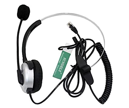 SUNDELY Silver Call Service Headset with Adjustable Boom Mic for Telephone /IP Phone Nortel Networks