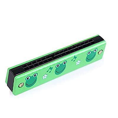 NUYI Wooden 16 Hole Cartoon Children Painted Harmonica Orff Early Education Musical Instruments Children's Educational Toys,K: Sports & Outdoors