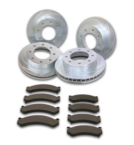 (SSBC A2351027 Short Stop Slotted Rotor Upgrade Kit for '99-06 GM 3/4-1T)