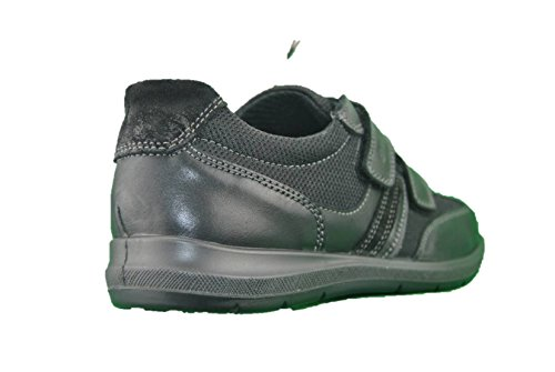 ENVAL SOFT 1209200 Scarpe Slip On Mocassino Pelle Nero Velcro con Memory Foam