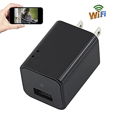 Spy Camera Charger WIFI 1080P HD TANGMI Wireless Hidden Cam Wall Plug Adapter Motion Detection Surveillance Camcorder support iPhone Android Remote View Loop Recording