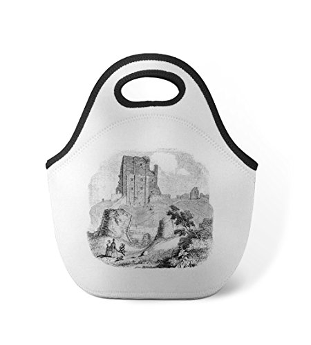 Corfe Castles #1 Neoprene Insulated Lunch Box Bag - Corfe Castle