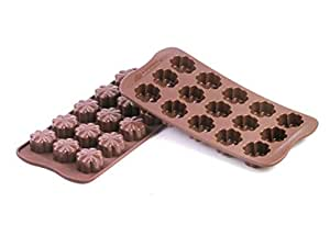 Silikomart Silicone Easy Chocolate Mold, Flowers