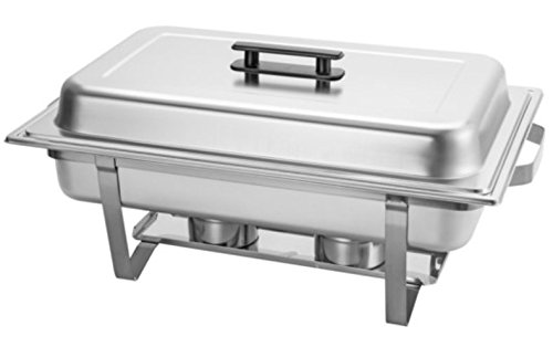 Chafing Dish 9-Liter 9.5 Quart Stainless Steel Chafer Buffet Catering Restaurant Water Pan & Fuel Holder Large Size