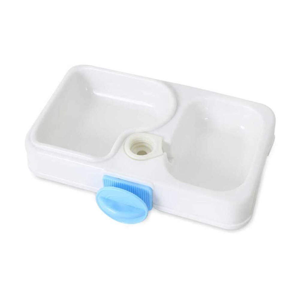 Small cyj Pet feeder,Dog Cat Non-slip Solid and durable Natural Healthy Feeder Drinking fountain Polypropylene resin High capacity Hangable Can be laid flat
