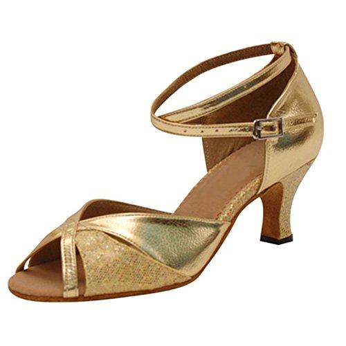 Latine 42 Cadeaux Tango LEIT Femmes Golden Dance Dance Danse 8CM Danse YFF Chaussures x4a7aqAYw