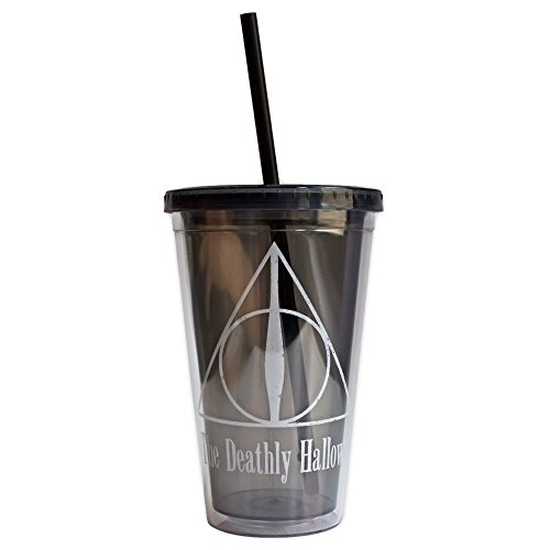 silver-buffalo-hp23087-warner-brothers-harry-potter-the-deathly-hallows-plastic-cold-cup-with-lid-an