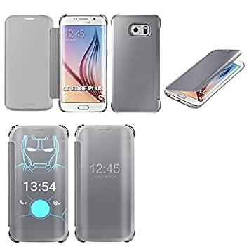 MP4 Telecom Galaxy s6 edge plus coque etui housse flip cover view argent 97c354bde88