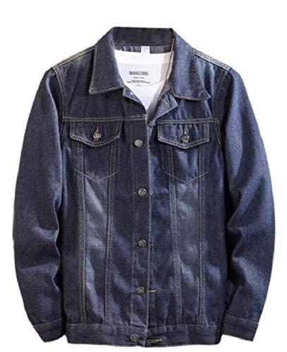 Tymhgt-MX Mens Slim armarios Tops Outwear Abrigo de Moto - Jean Short Denim 1 XL