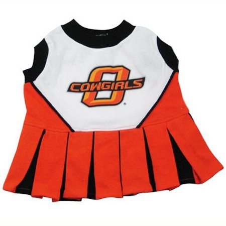 (Pets First Collegiate Oklahoma State University Dog Cheerleader Outfit, Small)